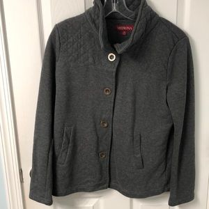 Gray button up jacket